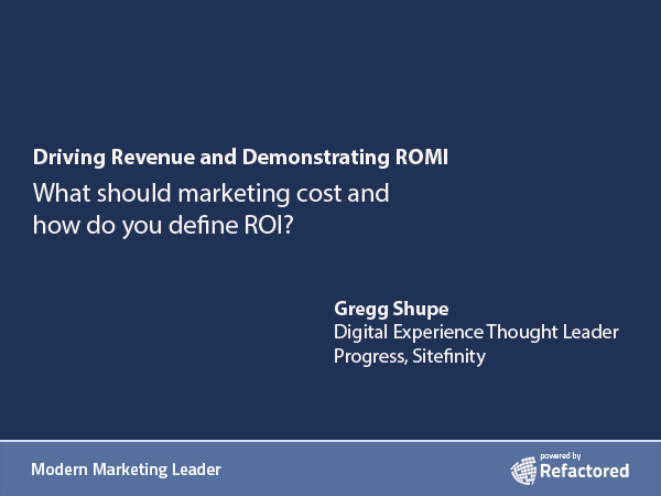 Aligning marketing and revenue for impact