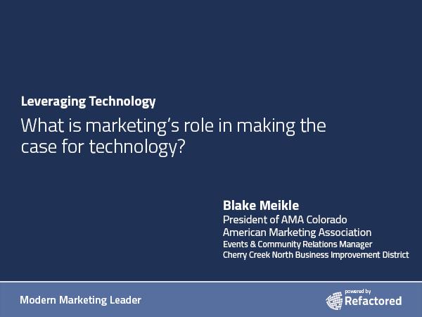 Tech tools drive change