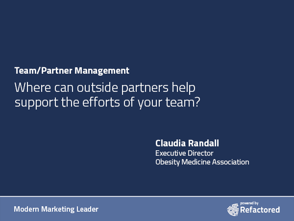 Partners have specialties and niche areas of expertise.