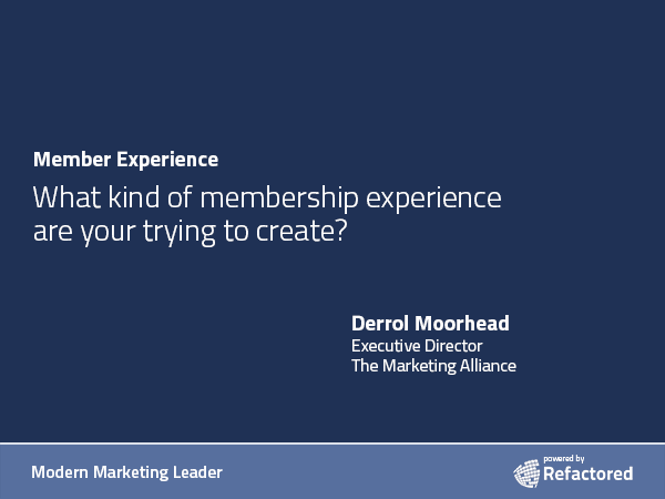 Building more value for membership